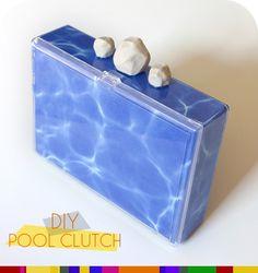 pool clutch diy - Inspired by Jimmy Choo & Kate Spade - Love it!