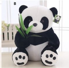Black and white panda plush toys for girls cartoon 3d pillows home decor