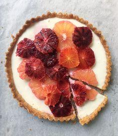 Yogurt Panna Cotta Tart with Blood Oranges and Grapefruit –