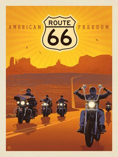 Anderson Design Group American Travel Route 66 American Freedom is part of Route 66 - Route 66 Road Trip, Travel Route, Travel Oklahoma, Route 66 Attractions, Missouri, Motif Art Deco, Retro Poster, Poster Poster, Poster Ideas