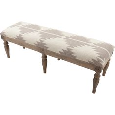 $645 - Shop this exquisite wool bench.  A stylish yet functional piece that sits on top of an elegant wood base and is upholstered in a beautiful light gray fabric.