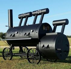 Double Door Grizzly Smoker (*Price does not include Freight Charges. Please contact us for shipping estimate. Barrel Smoker, Bbq Pit Smoker, Barbecue Pit, Fire Pit Grill, Custom Bbq Smokers, Custom Bbq Pits, Smoker Cooker, Backyard Smokers, Bbq Smoker Trailer