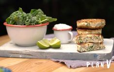 Salsa Tzatziki, Queso Feta, Salmon Burgers, Kale, Mashed Potatoes, Ethnic Recipes, Virginia, Food, Salads