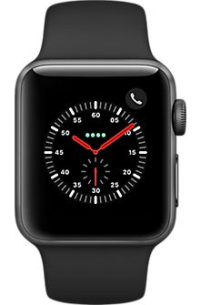 f7504f8a0bd5 Shop Apple Apple Watch Series 3 (GPS + Cellular) Space Gray Aluminum Case  with Black Sport Band Space Gray Aluminum (Verizon) at Best Buy.