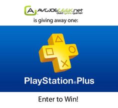 Enter for a chance to win a One Year Subscription to PlayStation Plus. This is my way of saying thanks to those who visit the site and liked the page on Faceook! Presented by avgjoegeek.net!