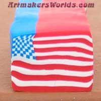 American Flag polymer clay cane