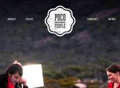 Notice how Poco People's grunge logo is accentuated against the clean background.