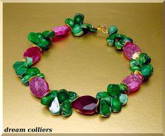 +Weinrot+-+Grün+Traumkombi+Koralle++von+Dream-Colliers+auf+DaWanda.com