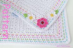BABY CROCHET BLANKET Pattern 'Little Ladybird by KerryJayneDesigns