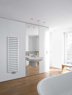 Bathroom wall heater in white