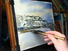 Watercolour of St Ives Harbour in Cornwall. Great demo/techniques!