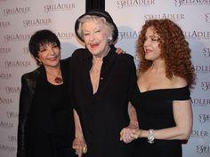 Liza Minnelli with Sondheim regulars Elaine Stritch and Bernadette Peters.