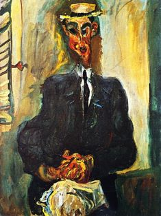 The Athenaeum - Man with Straw Hat (Chaim Soutine - ) Modigliani, Figure Painting, Painting & Drawing, Chaim Soutine, Classic Paintings, Jewish Art, French Artists, Life Drawing, Famous Artists