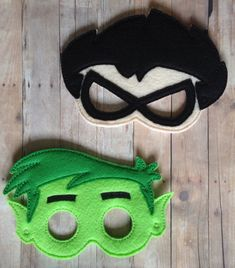 Teen Titans Go Inspired Character Masks by PinkoPatchCreations