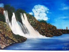 Düden şelalesi Yağlı boya tablosu
