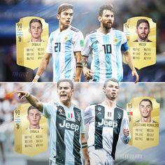 Paulo Dybala plays with the Best! Ronaldo Madrid, Cristiano Ronaldo 7, Juventus Stadium, Juventus Fc, Neymar Psg, Messi, Fifa, Best Football Players, Football Boys