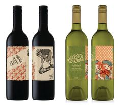 Molly Dooker -  more great illustrative labels by Mash.