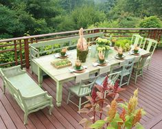 Table with mismatched chairs