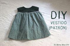 DIY Costura: Vestido de niña y capota con patrones incluidos (talla 6 meses – 6 años) | | Oh, Mother Mine DIY!!
