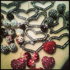 Pave hearts design your own bracelets also... you pick beads & I'll make it