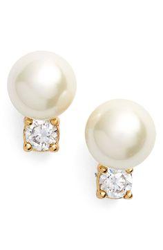 pearls of wisdon faux pearl stud earrings