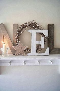 Easy NOEL decor
