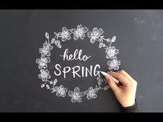 黒板アート、チョークアートで春!(DIY,chalkart)