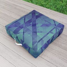 Blue Lagoon Outdoor Floor Cushion by scardesign Picnic Blanket, Outdoor Blanket, Outdoor Floor Cushions, Blue Lagoon, Modern, Comfy, Outdoor Decor, Fun, Design