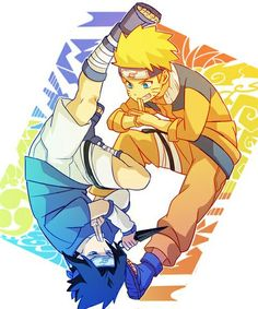 naruto, sasuke, and smile image