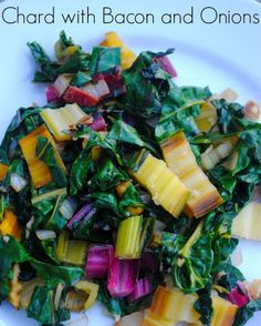 swiss chard with bacon and onions swiss chard with bacon and onions we ...