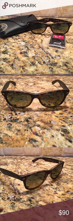 7ae770faee Shop Women s Ray-Ban Brown size OS Glasses at a discounted price at  Poshmark. Description  RayBan New Wayfarer polarized sunglasses.