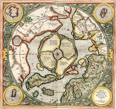 Gerardus Mercator's map of the North Pole from 1595