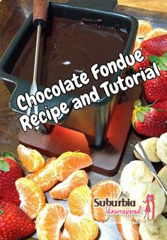 A delicious raspberry and dark chocolate fondue recipe and step by step tutorial