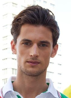 Men's Brushed Back Hairstyles