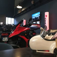Scooters, Motorcycle, Vehicles, Car, Barn, Automobile, Motor Scooters, Motorcycles, Vespas