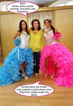 These sisters were having a double wedding, and were marrying boys who were not from the gypsy culture. Gypsy Wedding Gowns, My Big Fat Gypsy Wedding, Ugly Wedding Dress, Wedding Dress Pictures, Bridal Gowns, Wedding Dresses, Brides And Bridesmaids, Bridesmaid Dresses, Prom Dresses