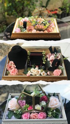 Wedding Gift Baskets, Wedding Gift Boxes, Wedding Ring Box, Gifts For Wedding Party, Engagement Party Desserts, Engagement Decorations, Diy Wedding Decorations, Thali Decoration Ideas, Wedding Cake Display