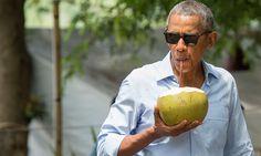 ¿Un coco señor Presidente? El simpático antojo de Barack Obama en su visita a Laos