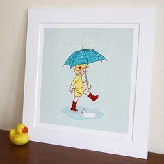 Poppy's puddle! Baby girl-bunny/garden theme