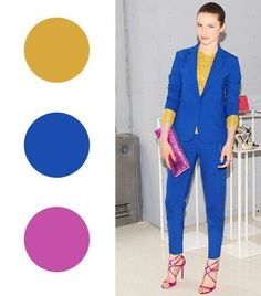 Your Spring Guide To Wearing Colour Now Your Spring Guide To Wearing Color Now via Who What Wear Color Combinations For Clothes, Color Combos, Fashion Colours, Colorful Fashion, Deep Winter Colors, Jessica Parker, Color Pairing, Colourful Outfits, Classic Outfits