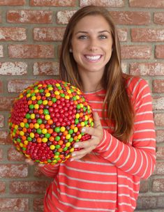 Alex Morgan and her Skittles soccer ball.........Luckyyyyyy