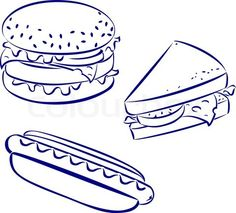 hamburger by photonline deviantart com on deviantart drawing
