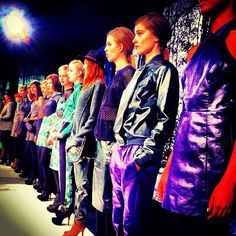 The lineup at Charlotte Ronson #NYFW