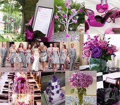 Purple, fuschia, silver...may be my color combination.