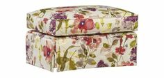 Veranda Accent Ottoman | Havertys Furniture. In the GRAPHITE print, not this floral. #HavertysRefresh contest entry