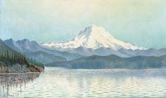 VIEW FROM PUGET SOUND WITH MID SUMMER EFFECT, MOUNT TACOMA, WASHINGTON, Grafton Tyler Brown, 1887