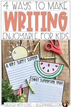 Are your kids struggling to love writing? Here are 4 writing tips to motivate your students and help them enjoy writing! #elementarywriting #writingactivities