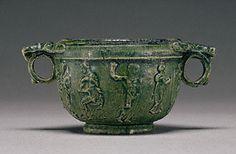 Lead-Glazed Skyphos (Getty Museum) Unknown  Greek or Roman, Asia Minor, 50 B.C. - A.D. 50  Terracotta