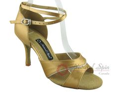 Natural Spin Signature Latin Shoes(Open Toe):  H1158-01_GoldES