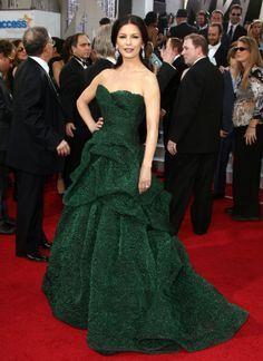 catherine zeta jones green monique l'heuiller bellflower dress - Google Search